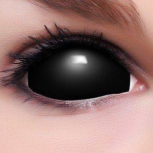 """Assez FUNZERA®[Sclera] Lentilles de Contact de Couleur Noir """"Black  RW46"""