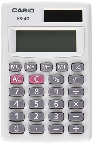 Casio HS-4G Handheld Solar Calculator