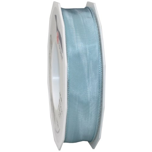 Morex Ribbon French Wired Lyon Ribbon, 1-Inch by 27-Yard Spool, Copen Blue