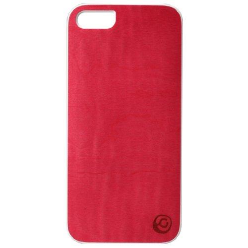 [Japanese authorized agent product] Man & Wood iPhone5S / 5 case natural wood Vivid Azalea white frame bar type I1509i5 (japan import)