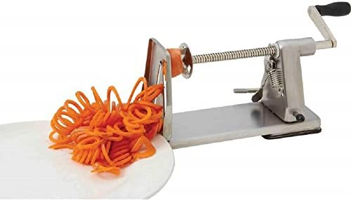 Stainless Steel Curly French Fry Vegetable Spiral Cutter Slicer Potato Twister