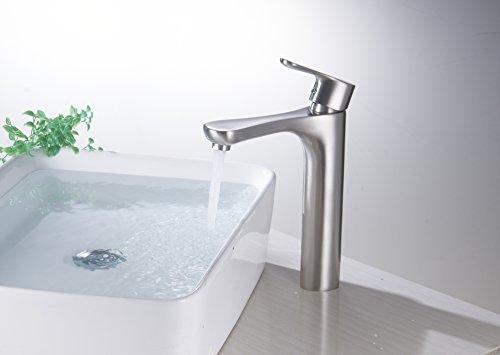 Bathroom Vessel Sink Chrome Brushed Nickel Oil Rubbed: Aquafaucet Bathroom Faucet Sink Vessel Single Handle Lever