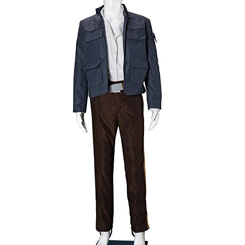 [Star Wars Empire Strikes Back Han Solo Jacket Shirt Pants Cosplay Costume] (Han Solo Adult Costumes)