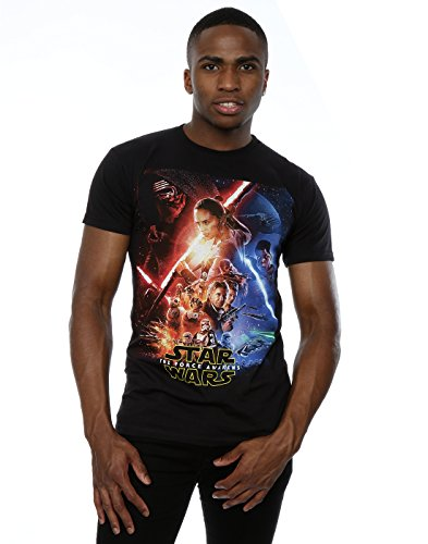 Star Wars Men's Force Awakens Poster T-Shirt Small Black