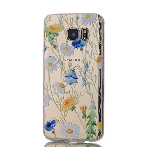 Samsung Galaxy S7 Edge Case, KSHOP Premium Accessory Ultra Thin Transparent Clear Soft Gel TPU Silicone Case Cover Bumper Shellfor Samsung Galaxy S7 Edge-Chrysanthemums
