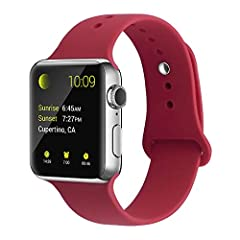 Universal use for Apple Watch Series 4 3 2 1 the comfortable I watch band Compatible with Apple Watch Series 1/2/3/4 38/40mm 42/44mm.Fits for 130-210mm wrist, The size is adjustable, Please choose the right color and size before you make orde...
