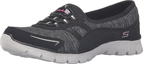 SKECHERS Women's EZ Flex 3.0 – Feelin' Good Black/Grey Sneaker 10 B (M)