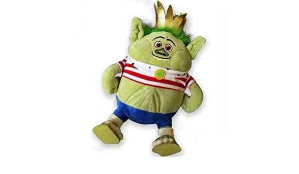 Amazon.com: 90cm Dreamworks Trolls King Gristle Junior Burgen Plush Toy - Character Toys: Toys & Games
