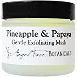 Pineapple and Papaya Organic Gentle Exfoliating Enzyme Facial Mask with Chamomile and Comfrey for All Skin Types 2.3 oz