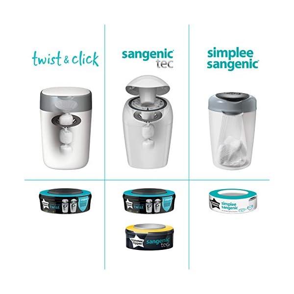Tommee Tippee Twist & Click Sangenic Sistema Avanzato di Smaltimento Pannolini, Mangiapannolini, Blu (Azzurro) 6