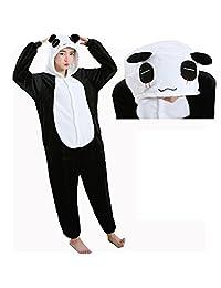 I'MQueen Unisex Cartoon Onesie Adult Pajamas Flannel Cosplay Sleepwear Costumes