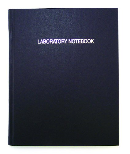 Thomas TSCILIRPE216LKG Grid Laboratory Notebook, Black Imitation Leather Cover, 216 Pages, 10'' Length x 8'' Width (Case of 10) by Thomas