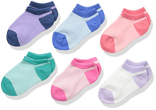Pastel Kids Shoes (Stride Rite Baby Little Girls' 6 Pack Show, Susan-Assorted Pastels, Sock: 6-7.5 / Shoe: 7-10)