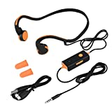 Zerone Bone Conduction Headphones Open Ear Headphones Wired HiFi Stereo with Mic for Running Driving Cycling Sports Headsets Sweat-proof Safer(Orange)