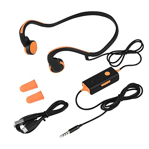 Zerone Bone Conduction Headphones Open Ear Headphones Wired HiFi Stereo with Mic for Running Driving Cycling Sports Headsets Sweat-proof Safer(Orange) by Zerone