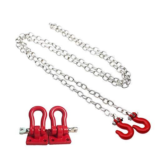 RC Rock Crawler 1:10 Accessories Tow Hook & Trailer Chain Kit for Axial SCX10 Yeti Tamiya CC01 RC4WD D90 D110 TF2 RC Trucks Car