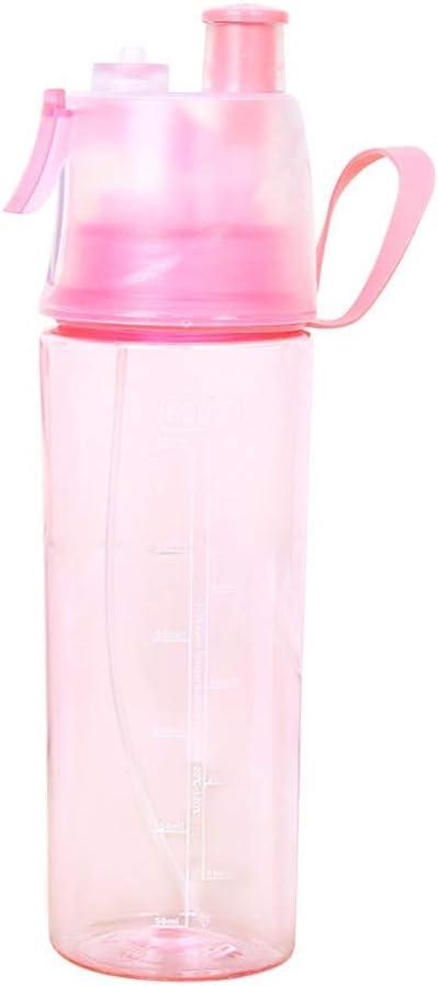 caomie Gallon en Plastique Rose e Bouteille deau avec Une Grande Paille Shaker Bouteille Tasse Bouilloire en Plein air 2L