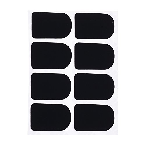 BCP 0.3mm Thickness Black Color Alto Tenor Sax Saxophone Clarinet Mouthpiece Patches Pads Cushions (0.3mm, - Bass Strap Pad