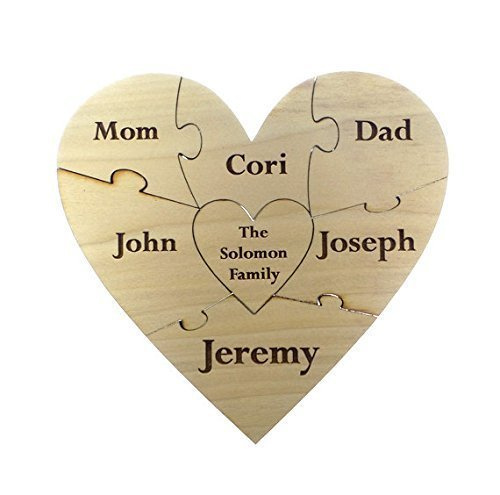 Personalized Puzzle Keepsake, Heart, Unity Puzzle For Wedding, 7pc, Gender Reveal Puzzle