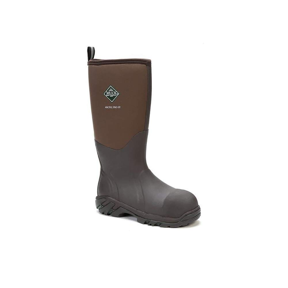 Muck Boot Men's Arctic Pro S/T Knee High Boot, Brown Steel Toe, 7 M US