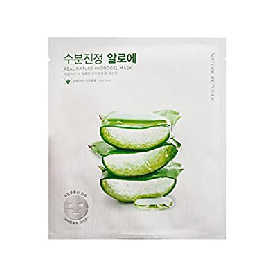 (6 Pack) NATURE REPUBLIC Real Nature Hydrogel Mask Aloe