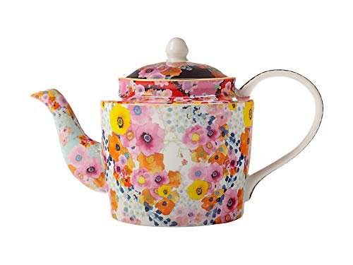 Maxwell & Williams Cashmere Bloems Elegant Floral Fine Bone China Teapot 750ml Creative Tops Bone China Fine China Teapot