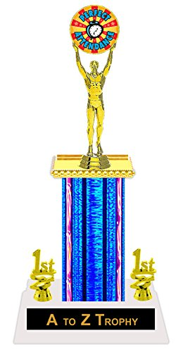 """Perfect Attendance Trophy Awards 13 1/4"""" Victory Academic Education Sports Trophies Free Engraving Color Choice"""
