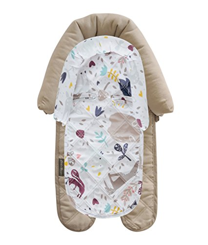 Eddie Bauer Baby 2-in-1 Head Support for Car Seats, Strollers, Swings, Grey and White