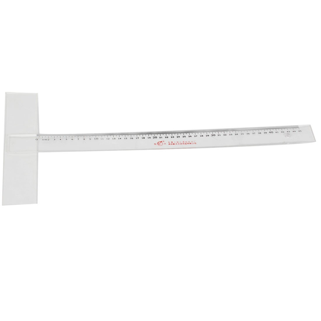 Uxcell School Office 45cm Measurement Tool Ruler Rule, Black Clear
