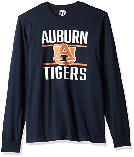 NCAA Auburn Tigers Men's Ots Rival Long sleeve Tee, Medium, Fall Navy