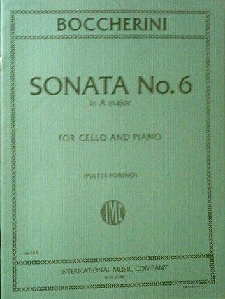 Boccherini Sonata No. 6 in A major for cello and piano