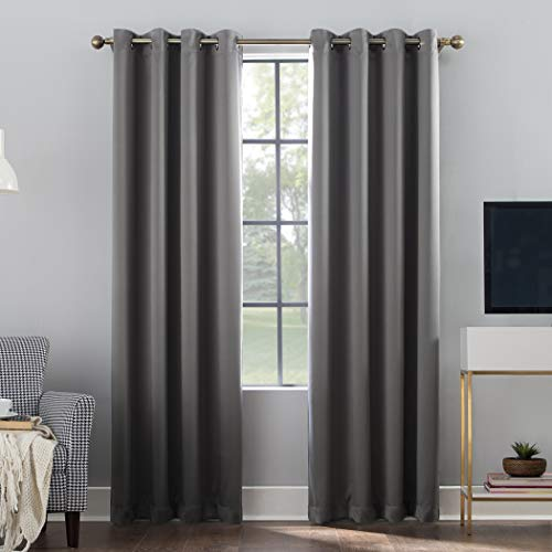 One Grommet - Sun Zero Oslo Theater Grade Extreme 100% Blackout Grommet Curtain Panel, 52