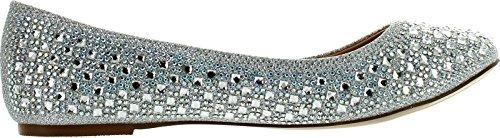 Flats Womens DeBlossom Silver Shoes Fashion Blossom 1 Baba Dress nOxPqYwf