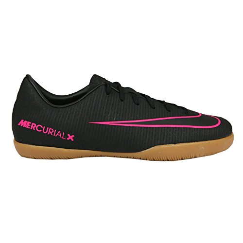 Nike Jr. Mercurial Victory VI Little/Big Kids Indoor/Court Soccer Shoe (13 M US Little Kid, Black/Pink) (Nike Mercurial Jr Grip)