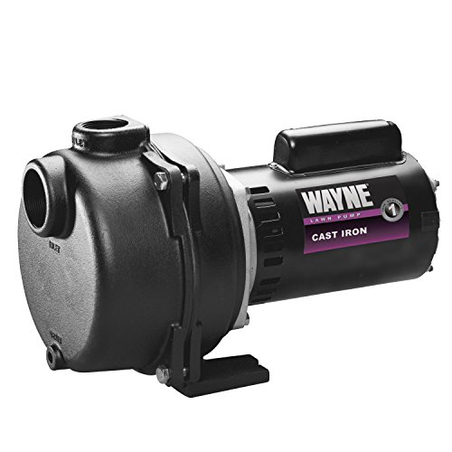 High Volume Water Pump - WAYNE WLS200 2 HP Cast Iron High Volume Lawn Sprinkling Pump