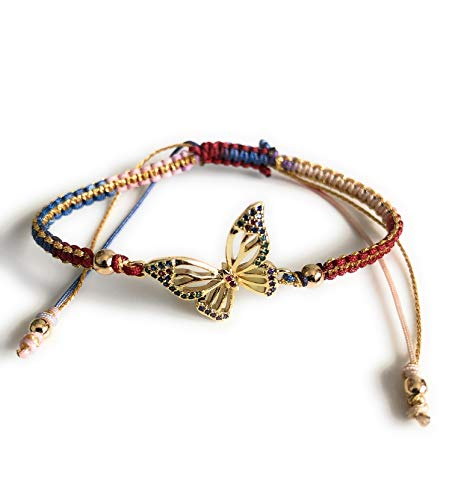 Butterfly Charm Bracelet for Women Autumn Fashion Accessory ()