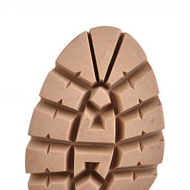 5 Nappa Nero Bianco donna Primavera pelle 9 7 cm brown 5 DESY Comoda Da Marrone Finta Beige Inverno Stivaletti Casual Quadrato Innovativo H5Xvn7