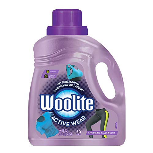 Woolite Active Wear Laundry Detergent, 50 Loads, Sport Wash, Active Wash, Sports Detergent Liquid