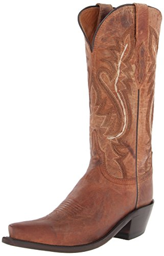 (Lucchese Bootmaker Women's Cassidy-tan Mad Dog Goat Riding Boot, 8.5 B US)