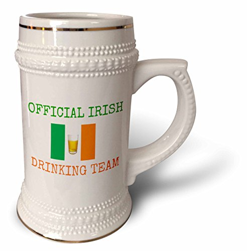 Xander holiday sayings - official Irish drinking team, green letters with Ireland flag and beer - 22oz Stein Mug (Drinking Team Mug)