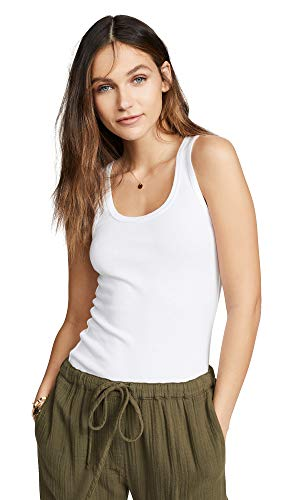 (Splendid Women's 1x1 Rib Tank,White,Small)