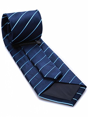 elegant for pattern Men and silk Sk04 with Dark Blue woven tie Striped Classical Prettystern BwEHxqA6n