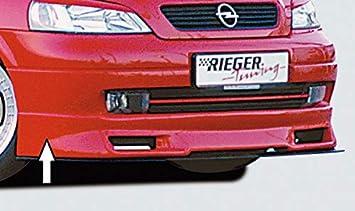 Rieger Frontal Alerón Labio Negro Mate para Opel Astra G