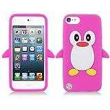 غطاء Penguin 3D Cartoon Apple iPod touch 5 (الجيل الخامس) / Touch 6 (الجيل السادس) هوت بينك