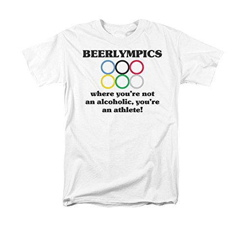 Beerlympics Where You're Not An Alcoholic, You're An Athlete! Adult T-Shirt