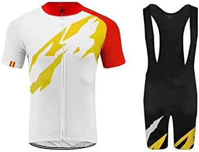 Uglyfrog Equipo de España Ropa Conjunto Traje Equipacion Ciclismo Hombre Verano con 3D Acolchado De Gel, Maillot Ciclismo + Pantalon/Culote Bicicleta para MTB Ciclista Bici TGQX03: Amazon.es: Deportes y aire libre