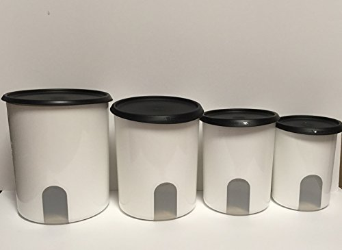 tupperware-one-touch-reminder-4-pc-canister-set-black-with-new-designed-seals