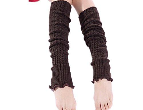 JIANGTAOLANG Women Warmer Knit Crochet High Knee Leg Warmers Leggings Boot Stocking]()