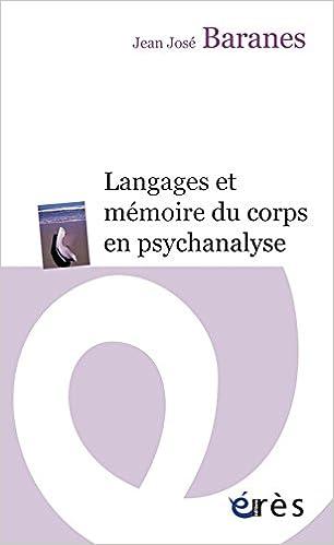 Livre Langages et mémoire du corps en psychanalyse epub pdf