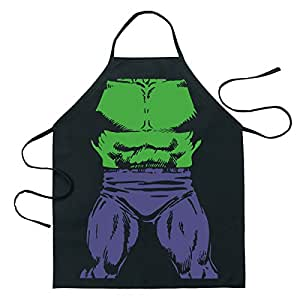 ICUP Marvel - Incredible Hulk Be The Hero Character Adult Size 100% Cotton Adjustable Black Apron